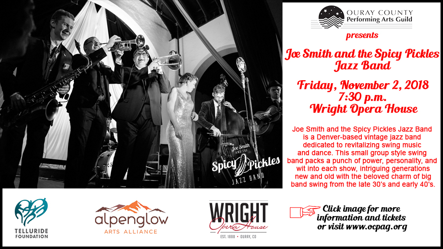 Joe Smith and the Spicy Pickles at the Wright Opera House