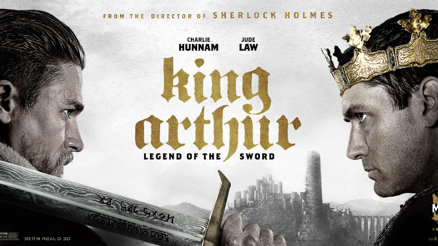 Movie presentation of King Arthur at the Wright Opera House