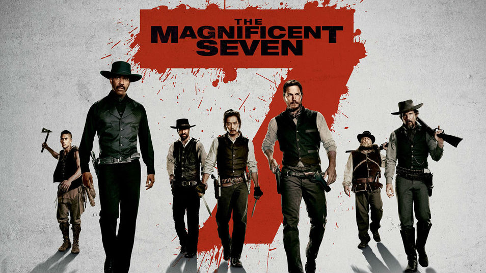 Movie presentation of The Magnificent Seven at the Wright Opera House