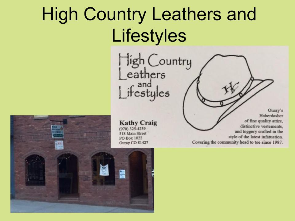 High Country Leathers